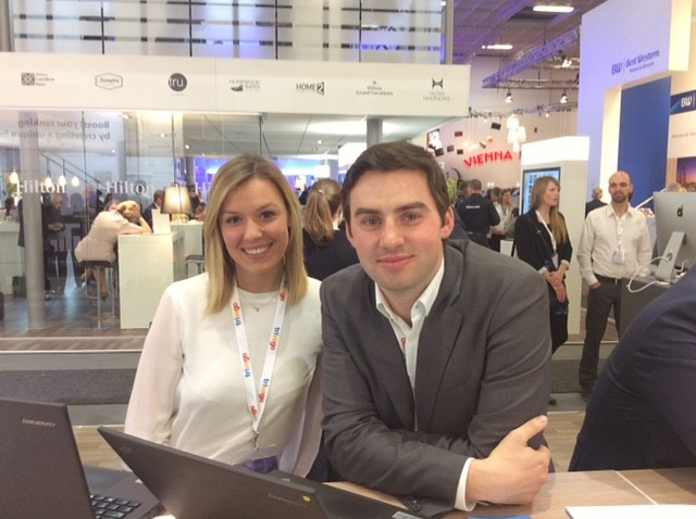 Jill and Brett from trivago's Direct Connect team at ITB Berlin