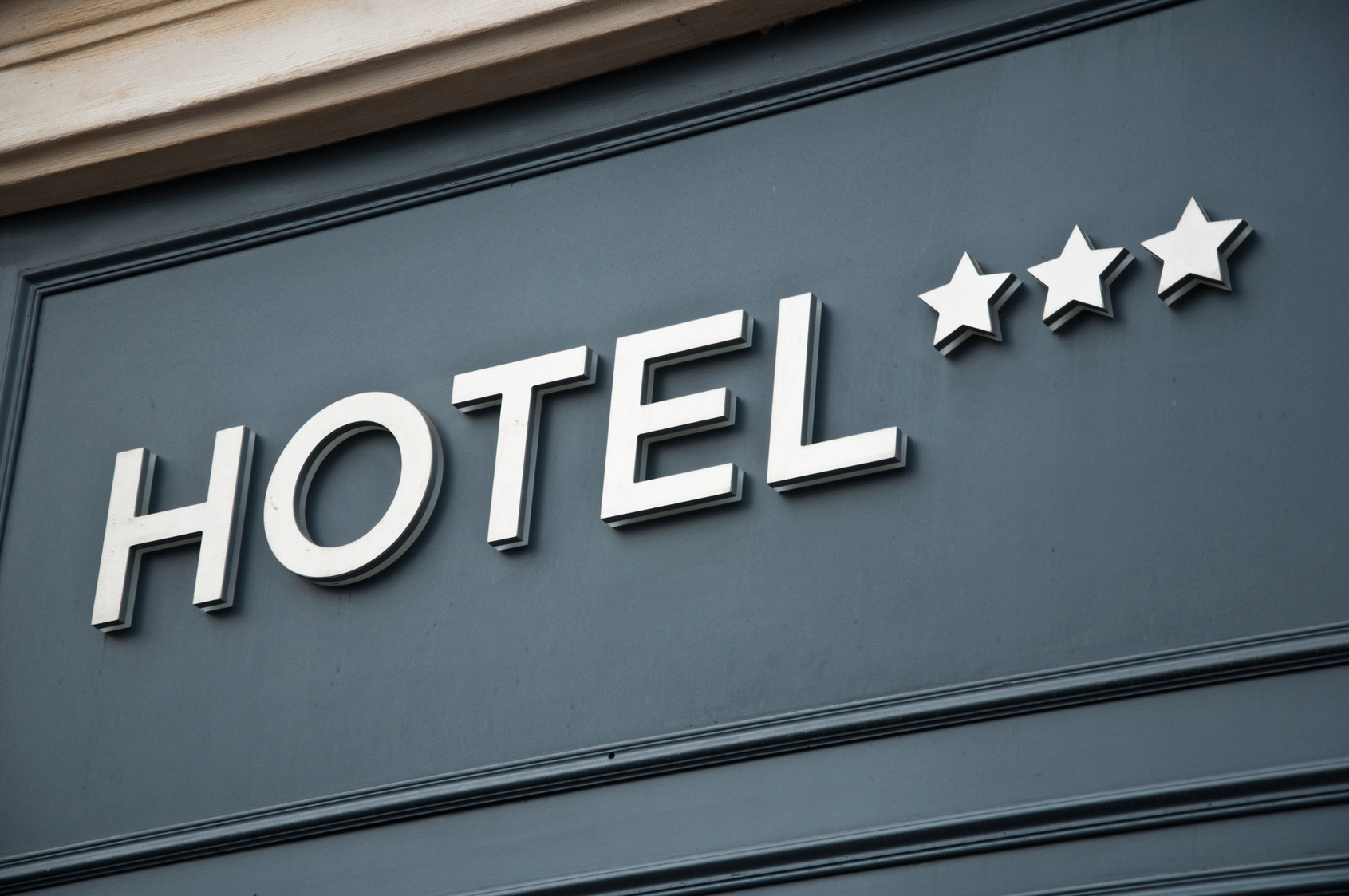 Facciata di un hotel a 3 stelle
