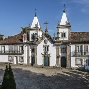 the 17th century period facade of hotel casa do outeiro tuias