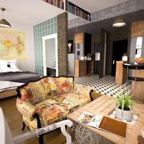Ein individueller Hotelraum