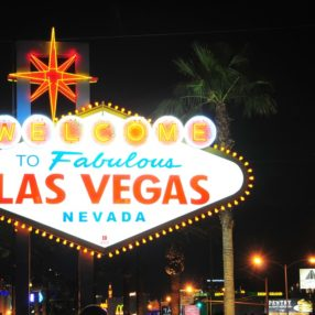 Las Vegas, Nevada's famous neon welcome sign