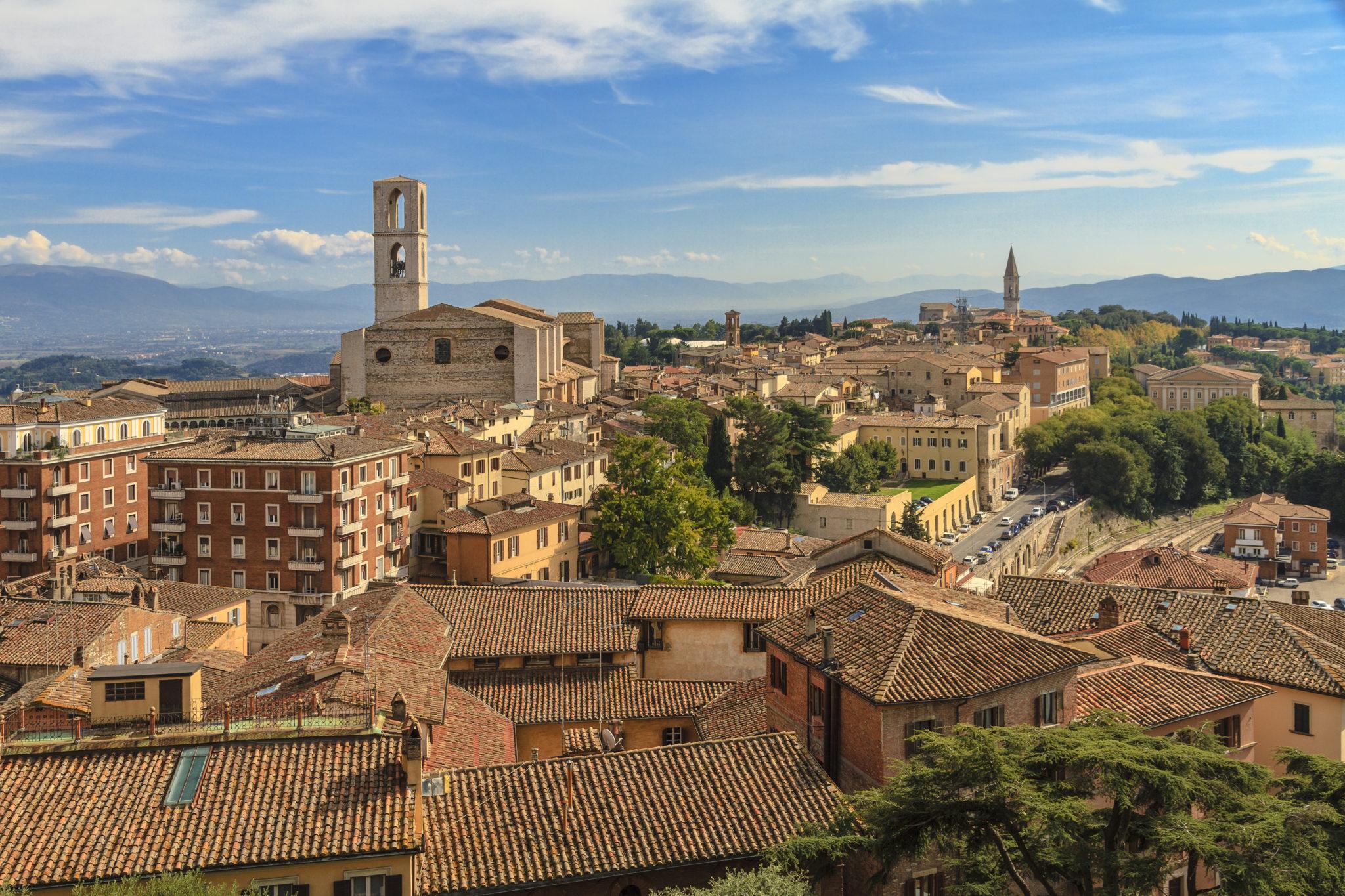 Veduta di un paese in Umbria