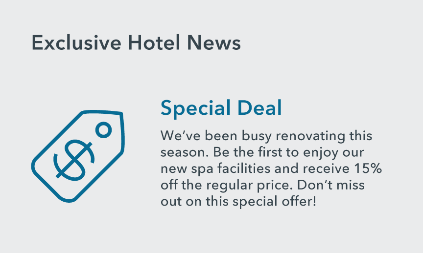 An example of Hotel News that can help attract low-season guests