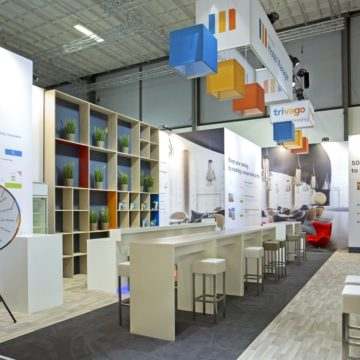 trivago booth at ITB Berlin