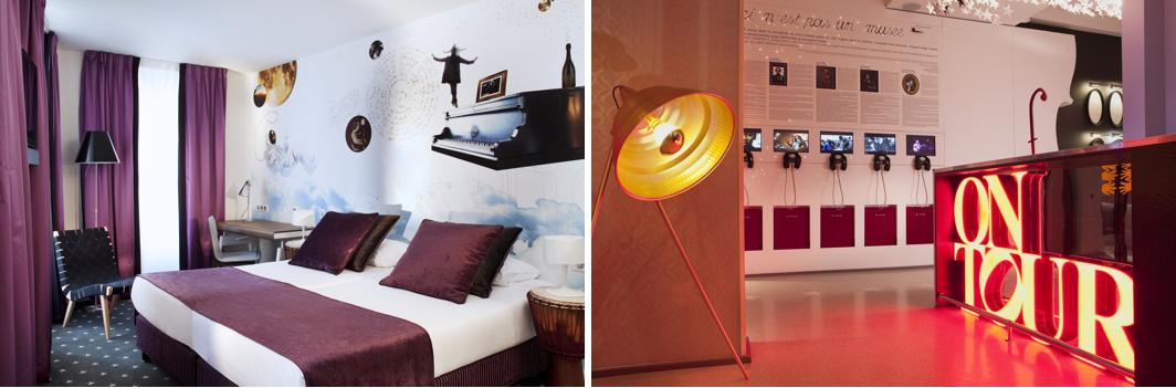 Un hôtel branché avec un espace multimédia dans son hall d'entrée pour une personnalisation unique