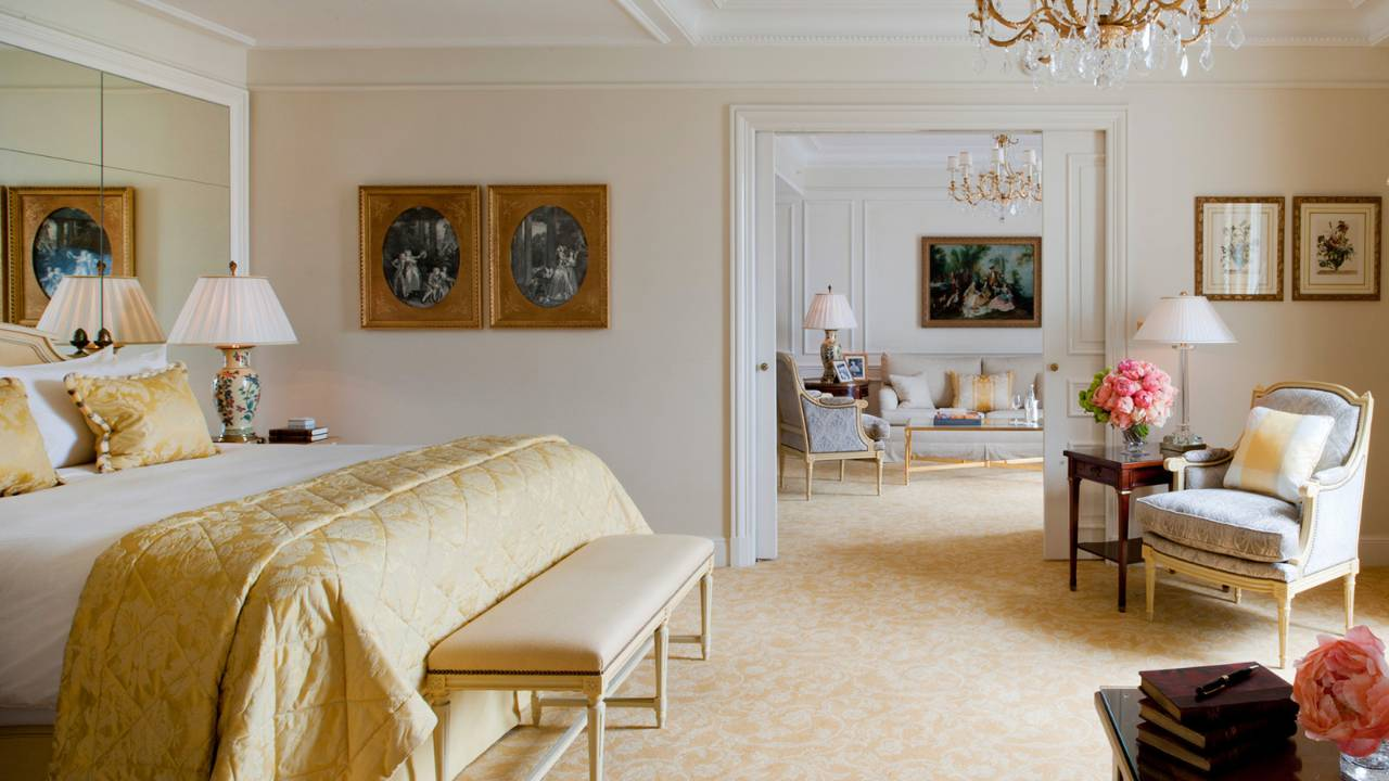 Une chambre harmonieuse et lumineuse raffinée