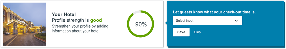 The profile strength metric on the new trivago Hotel Manager Dashboard