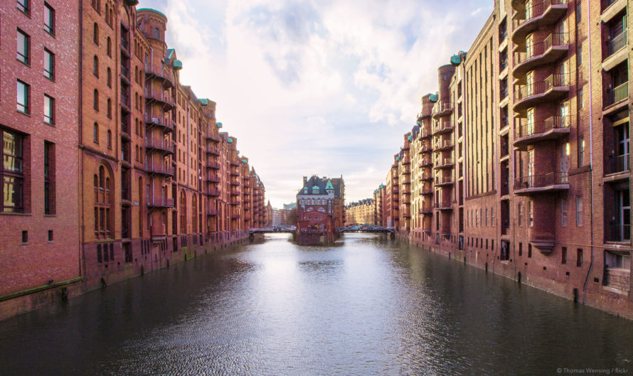 A Hamburg city scene, the location of the first 25hours hotel