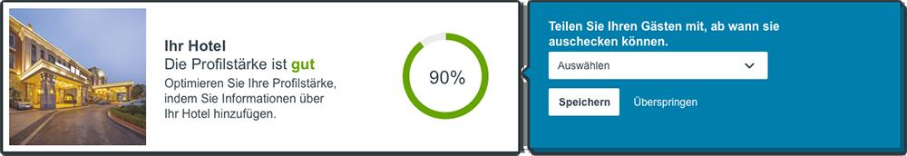 Daten zur Profilstärke im neuen trivago Hotel Manager Dashboard