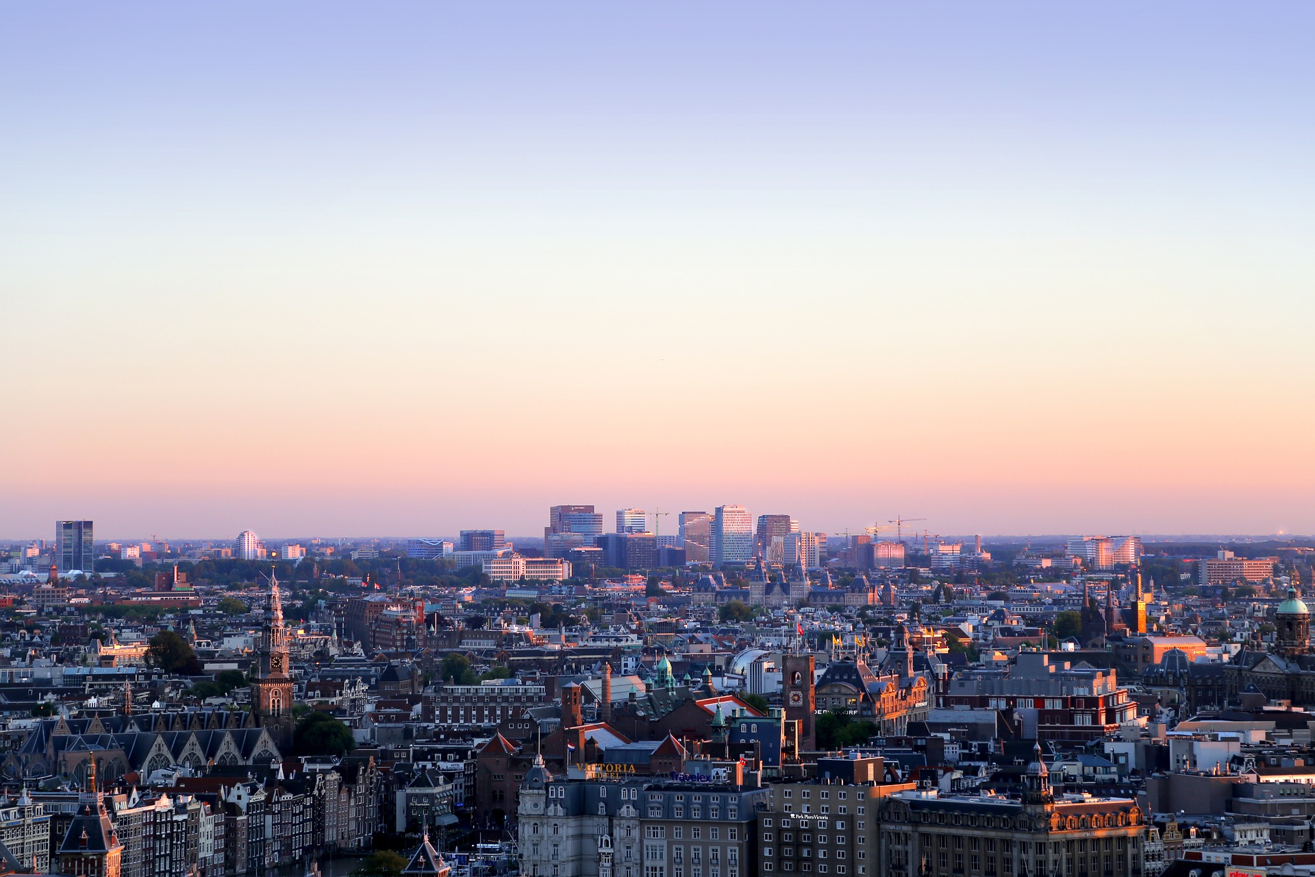 a skyline view of Amsterdam, the site of the fourth annual Phocuswright Europe