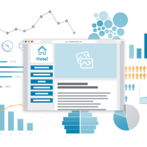 Big data and analytics: important for hotels, illustrated by graphs and charts