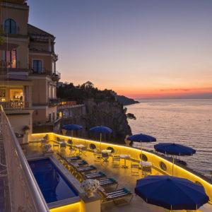 Vista panoramica dall'Hotel Bellevue Syrene di Sorrento