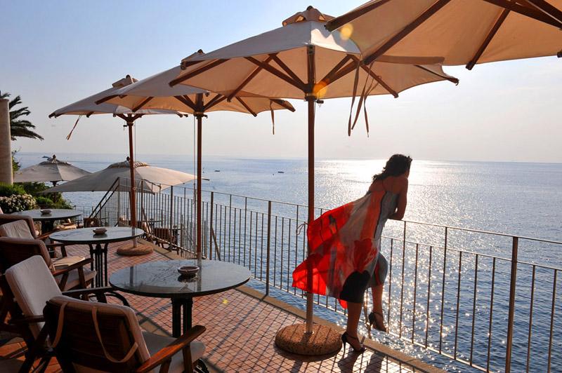 Vista dalla terrazza dell'hotel Cenobio dei Dogi
