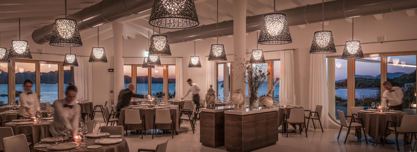 Il ristorante dell'hotel CalaCuncheddi di Olbia