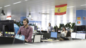 trivago sales team working in the new office