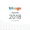 """A graphic of the trivago Awards 2018 logo with the text """"coming soon"""""""