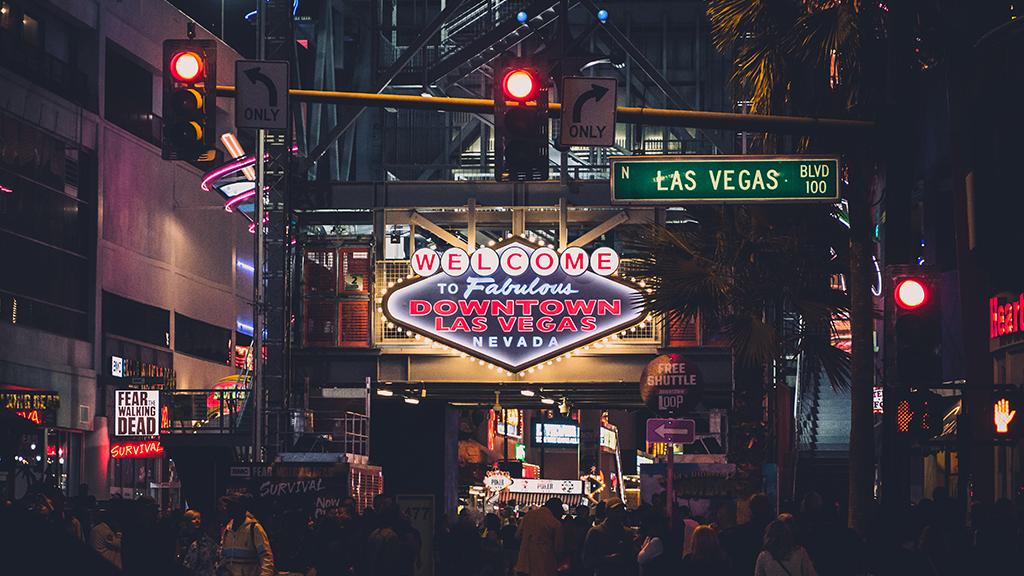 Las Vegas BLVD lit up at night
