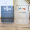 image showing the trivago Awards 2018 trophy