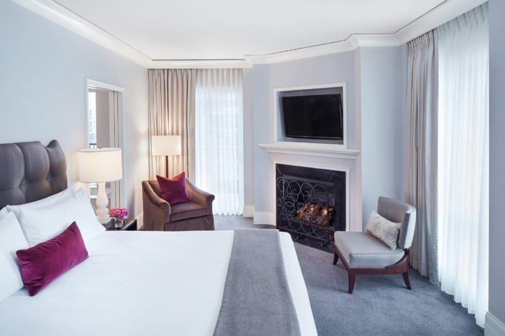 A room interior at the Waldorf Astoria Chicago