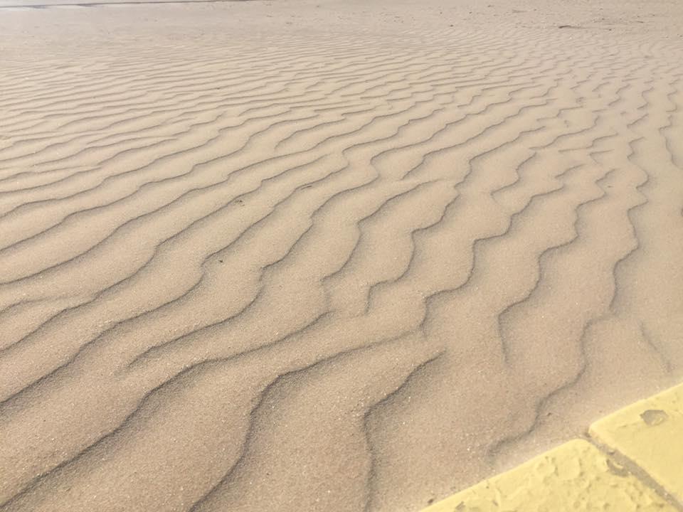 Fine sabbia sulla spiaggia di Rimini